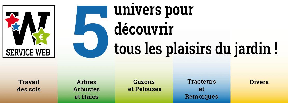 5 univers pour découvrir tous les plaisirs